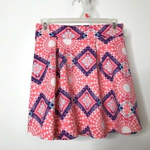 Charlotte Russe Skater Skirt Size Small Abstract